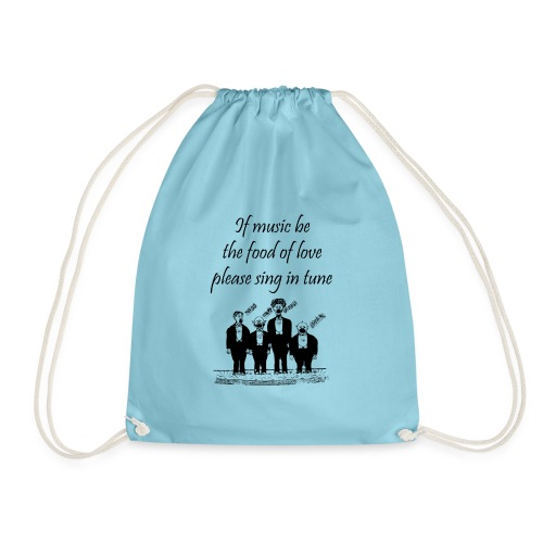 Play On Shakespeare Music Quotes - Musician Humour - Drawstring Bag