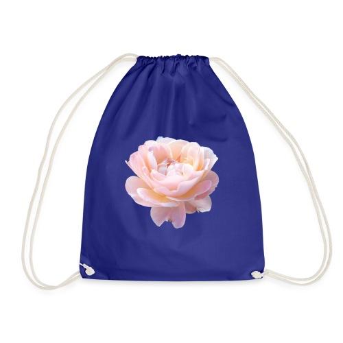 A pink flower - Drawstring Bag