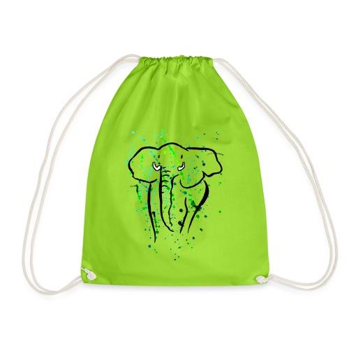 Afrikanischer Elefant - Kunst - Turnbeutel