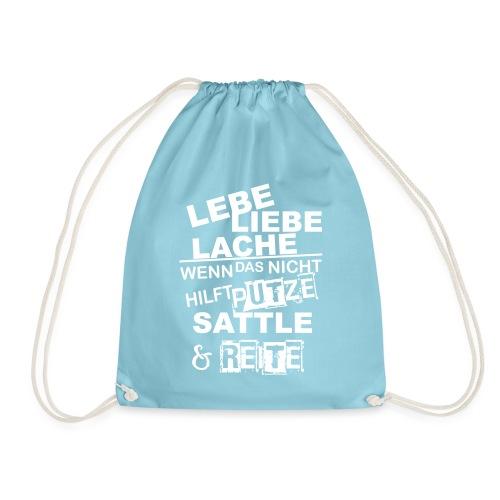 Lebe Liebe Lache Reite - Turnbeutel