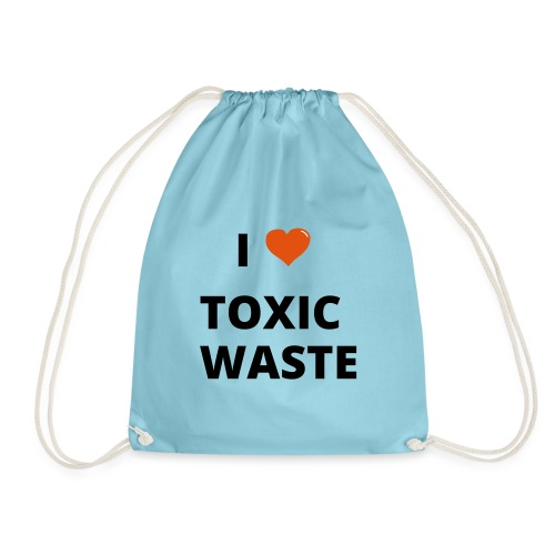 real genius i heart toxic waste - Drawstring Bag