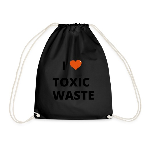 real genius i heart toxic waste - Drawstring Bag