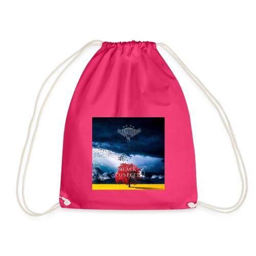 Black Confetti Promo Design - Drawstring Bag