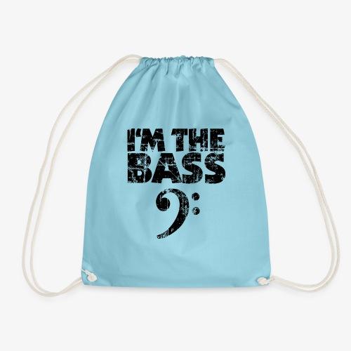 I'm the Bass (Vintage/Schwarz) Bassist Bassisten - Turnbeutel