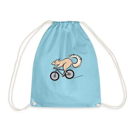 Fahrrad und Eichhörnchen - Turnbeutel
