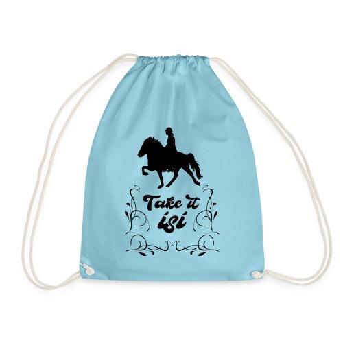 Isländer Pony Isi T-Shirt Islandpferd - Turnbeutel