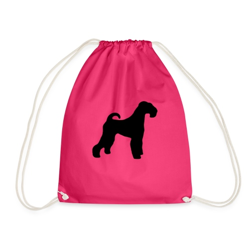 BLACK Airedale Terrier - Drawstring Bag
