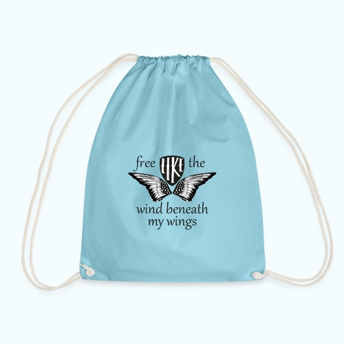 Free like the wind beneath my wings - Drawstring Bag