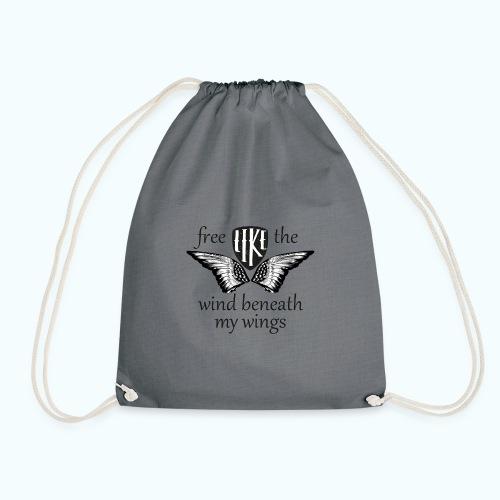 Free like the wind beneath my wings - Drawstring Bag
