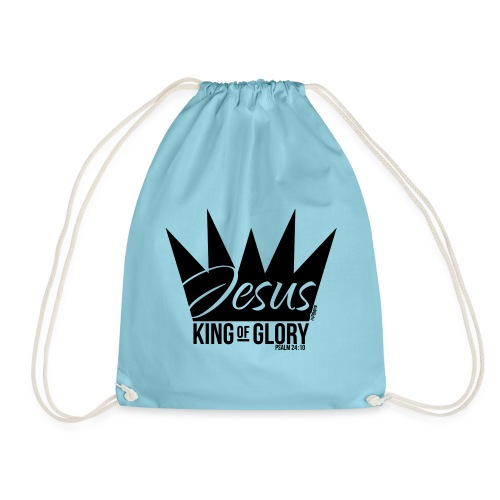 JESUS KING OF GLORY // Psalm 24:10 (BLACK) - Drawstring Bag