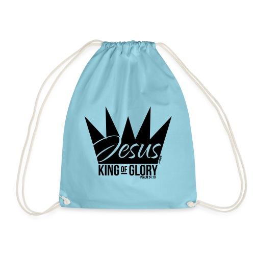JESUS KING OF GLORY // Psalm 24:10 (BLACK) - Drawstring Bag