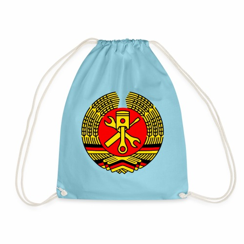 DDR Tuning Coat of Arms 3c (+ Your Text) - Drawstring Bag