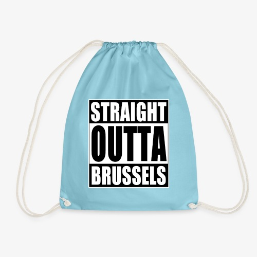 Straight Outta Brussels Brexit Design - Drawstring Bag