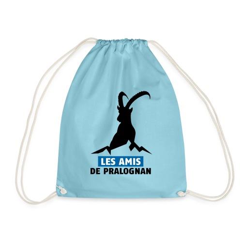 Logo Les Amis de Pralo grand noir - Sac de sport léger