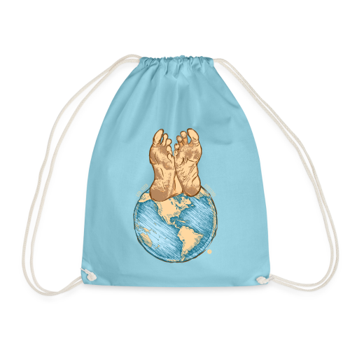 God Sized Footstool Isaiah 66:1 Christian T Shirt - Drawstring Bag