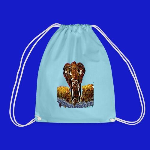 Designed elephant 🐘 - Drawstring Bag