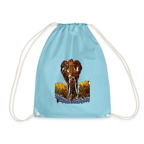 Designed elephant 🐘 - Drawstring Bag