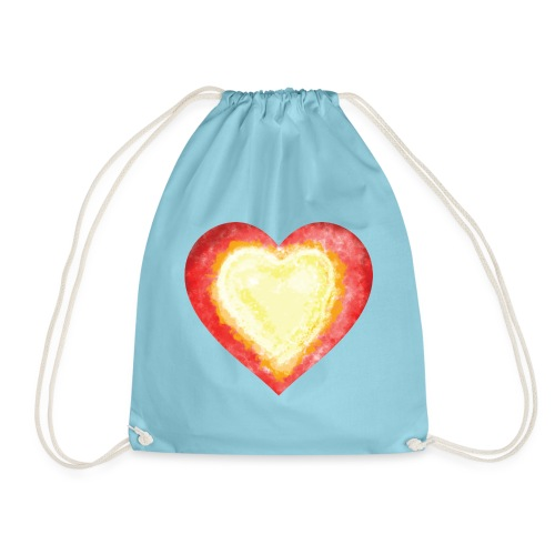 Burning Fire Heart - Drawstring Bag