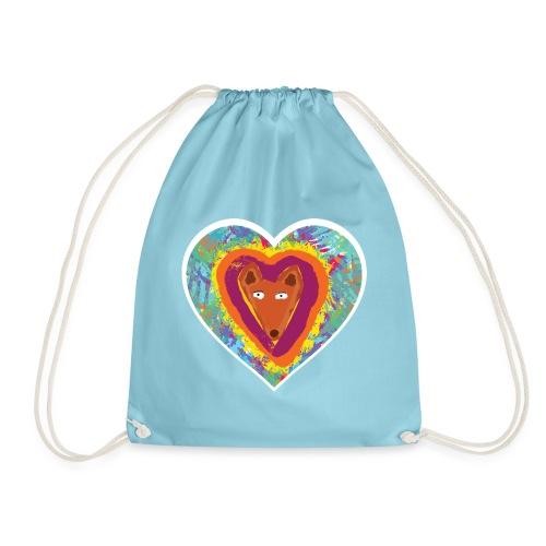 Foxy Heart - Drawstring Bag