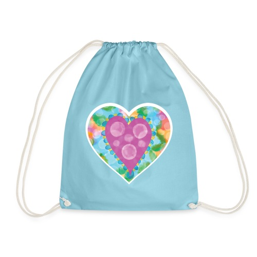 Heart Bubbles make you float - Drawstring Bag