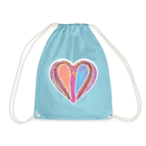 Hearts dont split, they get wings - Drawstring Bag