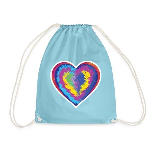 Colorful Heart - Drawstring Bag
