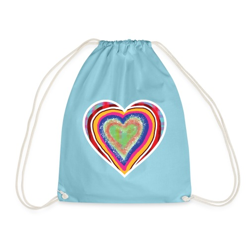 A heart in hearts is pure love on many levels - Drawstring Bag