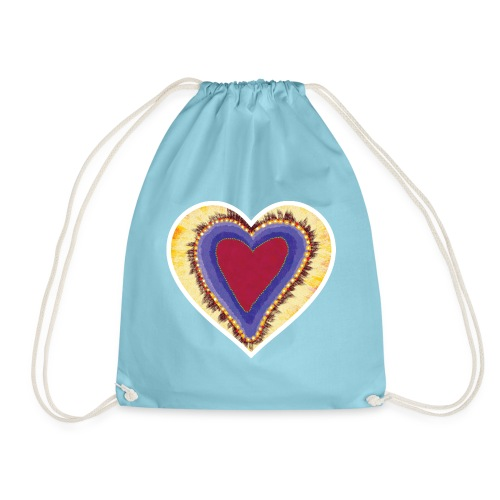 Red heart passion Symbol - Drawstring Bag