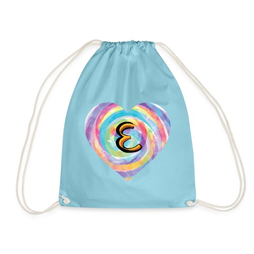 Eh, have a heart for a name that starts with E - Drawstring Bag