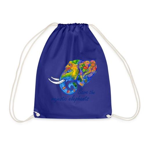 Save the majestic elephants - Turnbeutel