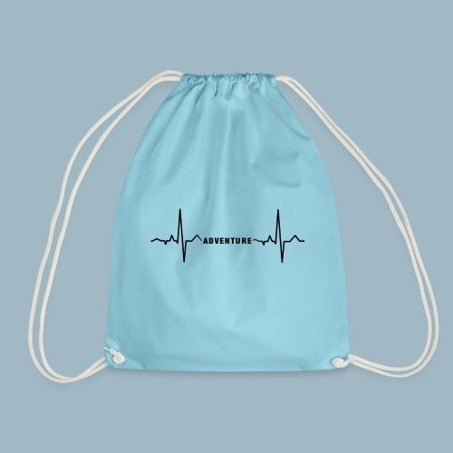 ECG long short black - Drawstring Bag
