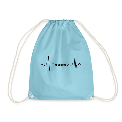ECG long short black - Drawstring Bag