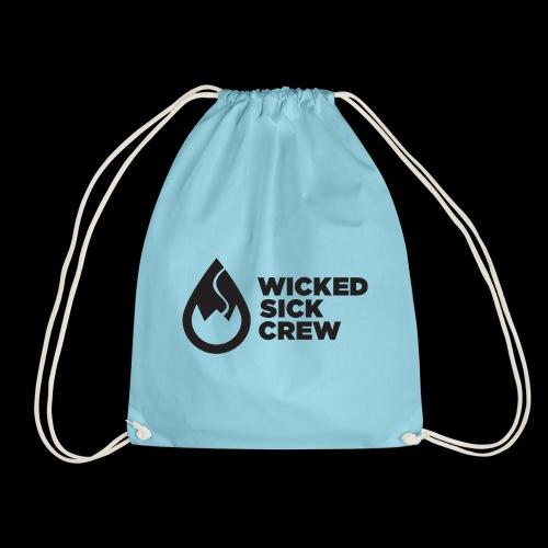 Wicked Sick Crew Tropfen schwarz - Turnbeutel