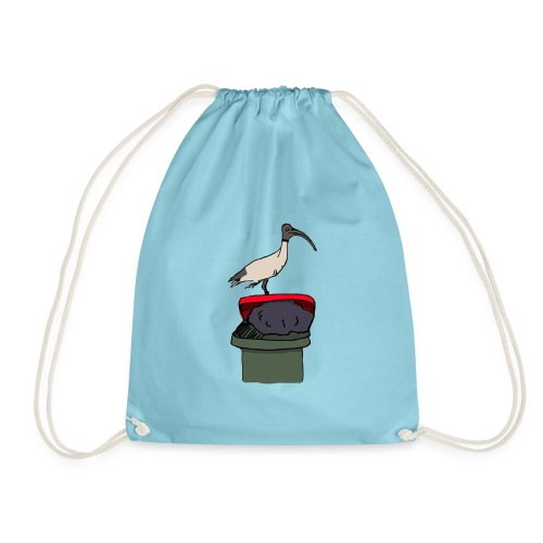 Xmas Bin Chicken - Drawstring Bag