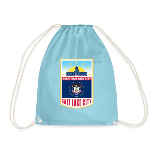 Utah - Salt Lake City - Drawstring Bag