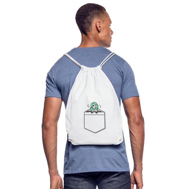 Sharon in der Hemdtasche