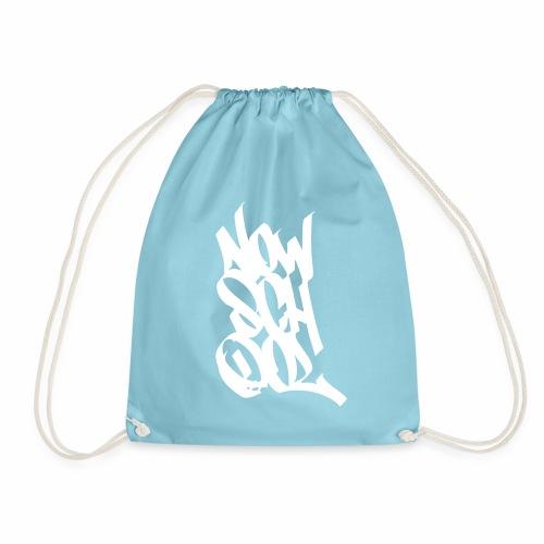 NowSchOol Marker Design (White) - Drawstring Bag
