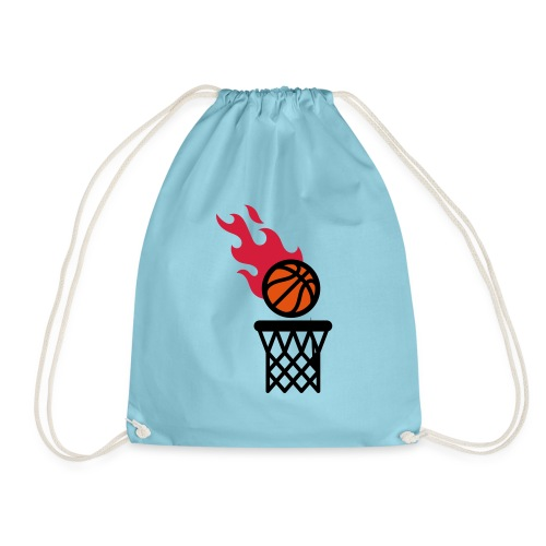 fire basketball - Drawstring Bag