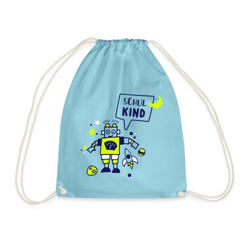 Schulkind - Robotershirt - Turnbeutel