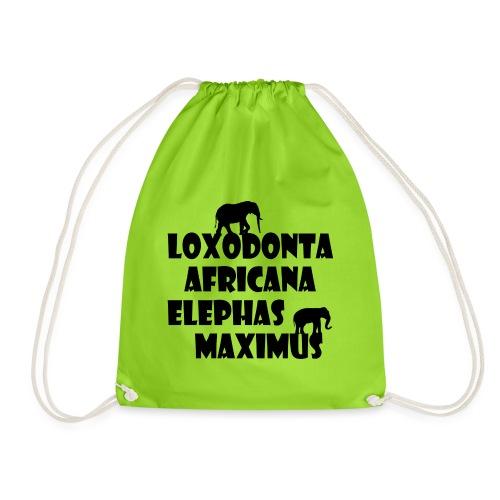LOXODONTA AFRICANA - ELEPHAS MAXIMUS - Turnbeutel