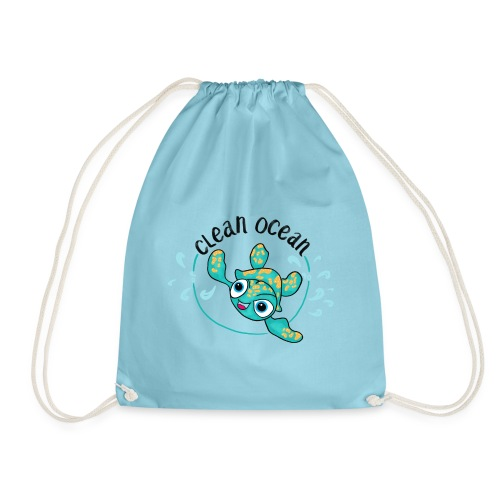 Clean Ocean - Drawstring Bag