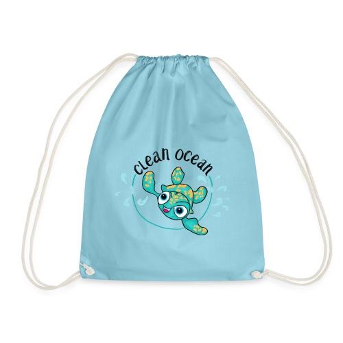 Clean Ocean - Drawstring Bag