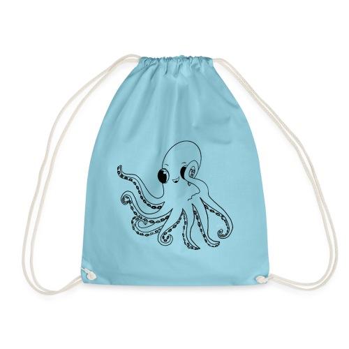 Little octopus - Drawstring Bag
