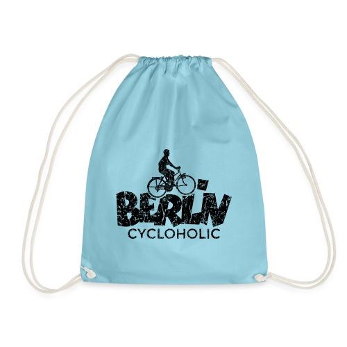 Berlin Cycloholic (Vintage/Schwarz) Fahrradfahrer - Turnbeutel