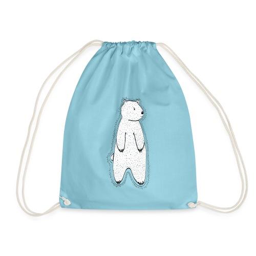 Little bear white / transparent. - Drawstring Bag
