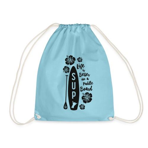 SUP & Flowers - Drawstring Bag