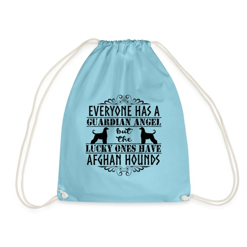 Afghan Hound Angels - Drawstring Bag