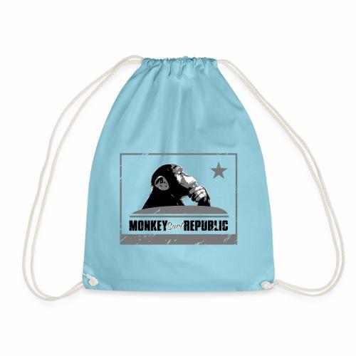 Monkey Surf Republic Flag - Drawstring Bag