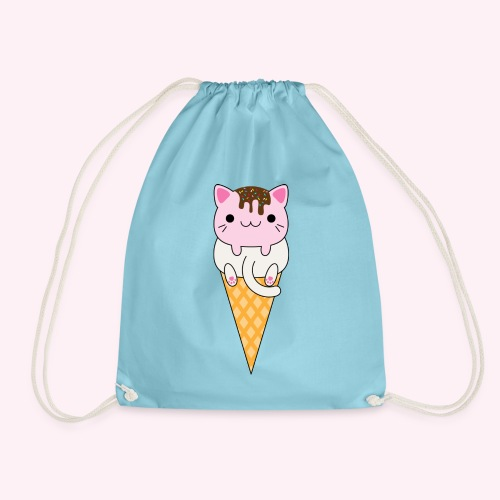 Cat Cream - Vanilla + Strawberry - Drawstring Bag