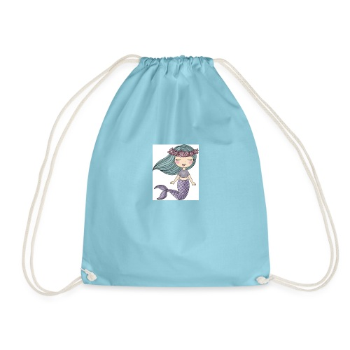 sjöjungfru lila och blå - Gymnastikpåse